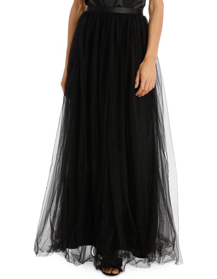 Black Maxi Tulle Skirt image 1