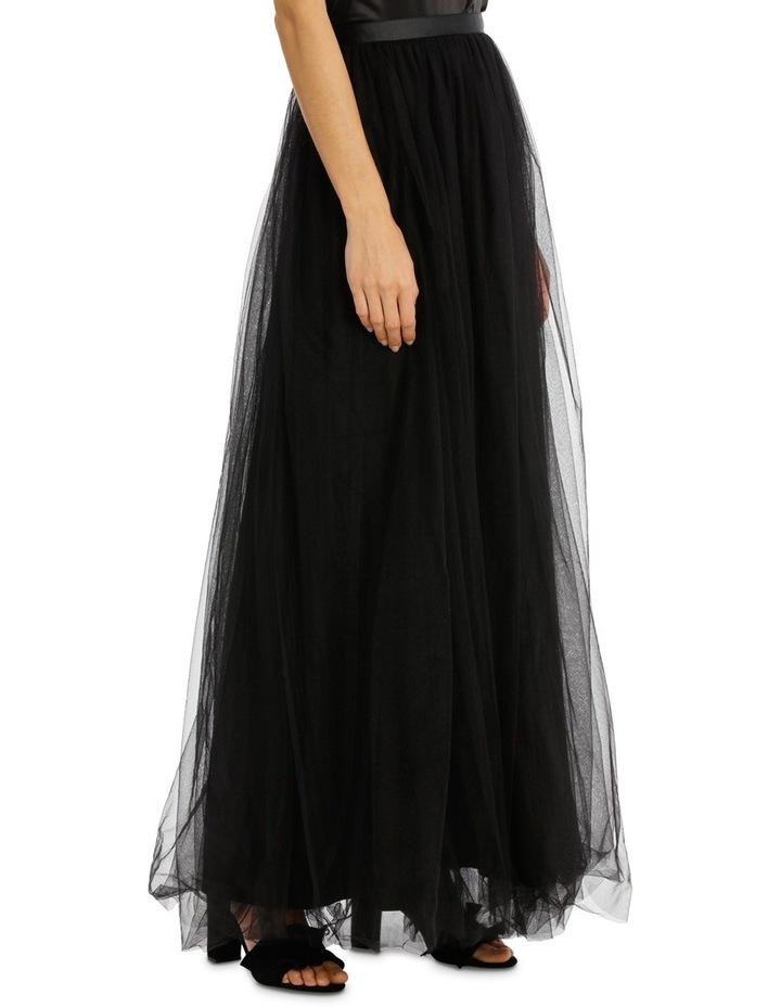 Black Maxi Tulle Skirt image 2