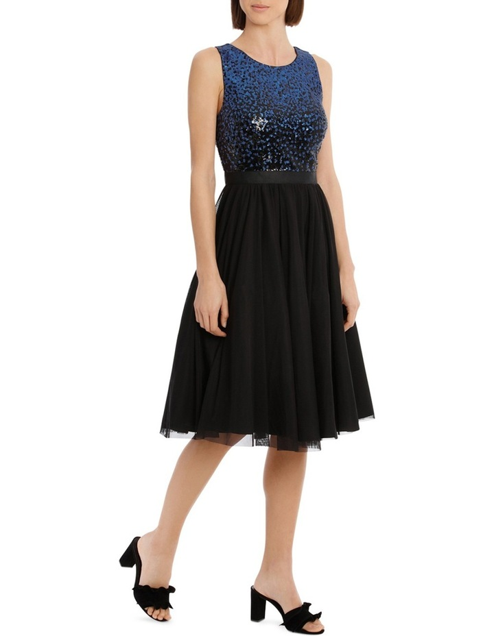 Silver And Navy Sequin With Navy Skirt image 2
