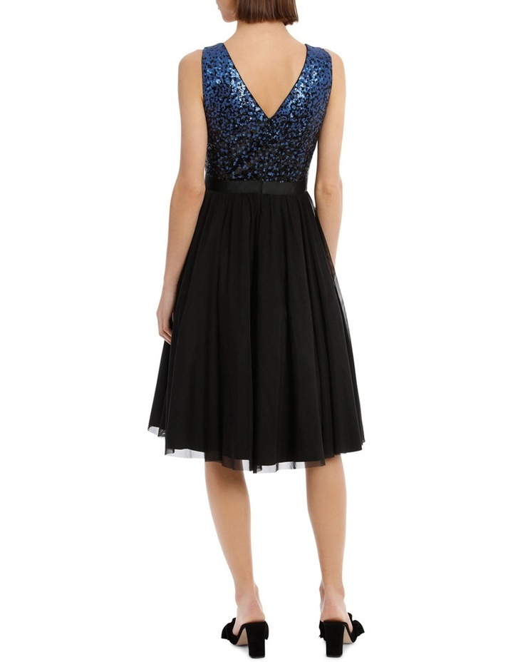 Silver And Navy Sequin With Navy Skirt image 3