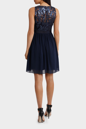 Wayne Cooper Events - Sequin Lace Gathered Dress