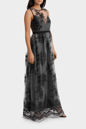 Wayne Cooper Events Embroided Mesh Gown Myer Online