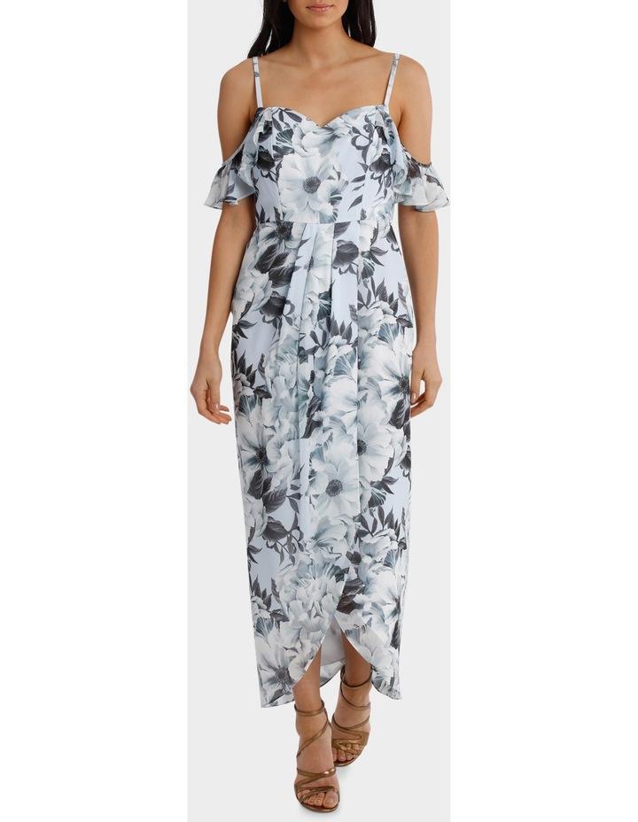 Fantasia Floral Flutter Off Shoulder Dress image 1