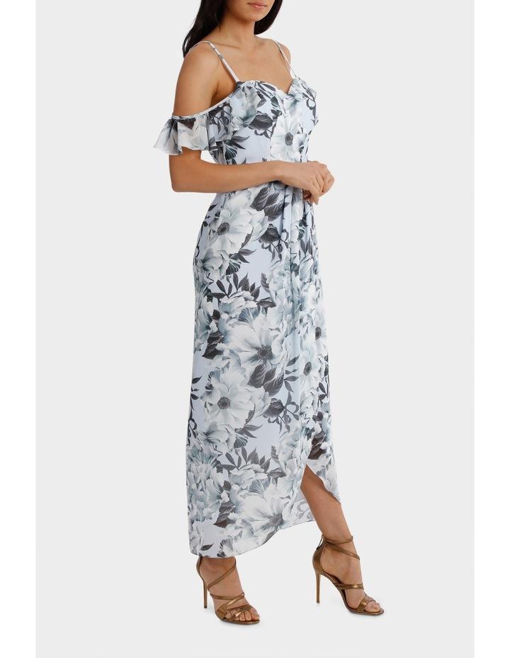 Fantasia Floral Flutter Off Shoulder Dress image 2