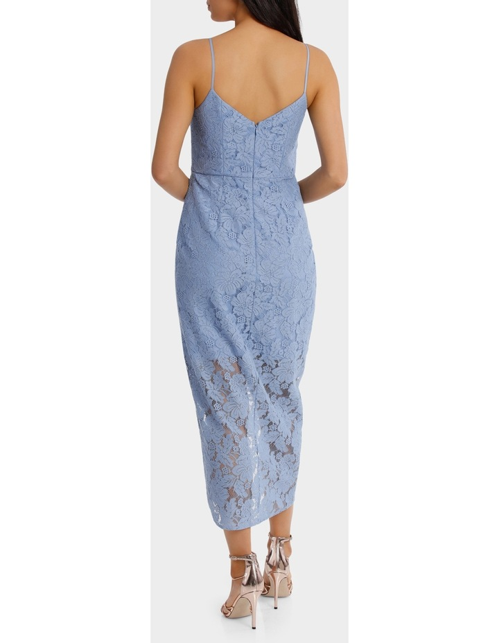 Forever Blue Corded Lace Wrap Dress image 3