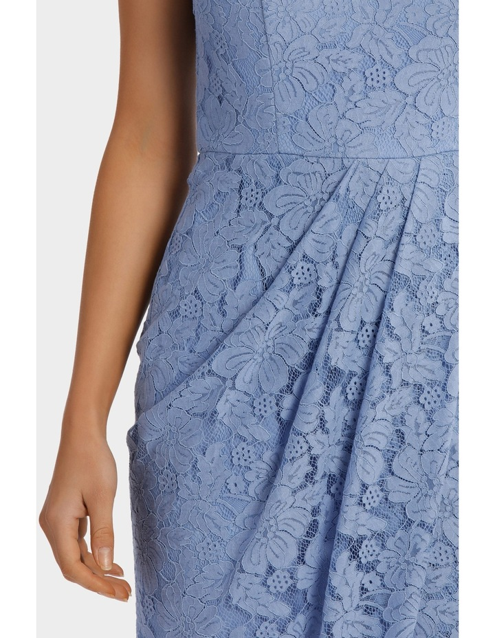 Forever Blue Corded Lace Wrap Dress image 4