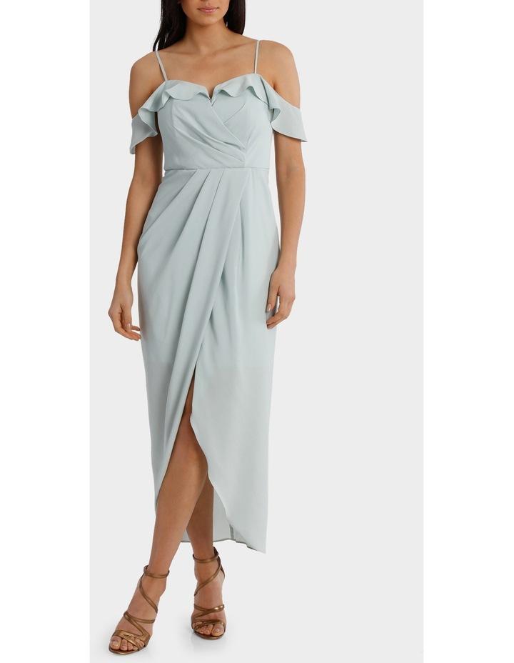 Mint Flutter Off The Shoulder Dress image 1