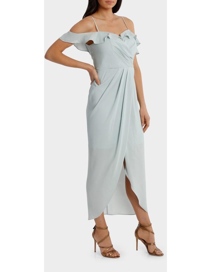 Mint Flutter Off The Shoulder Dress image 2