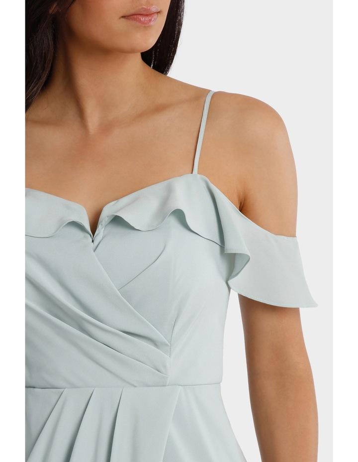 Mint Flutter Off The Shoulder Dress image 4