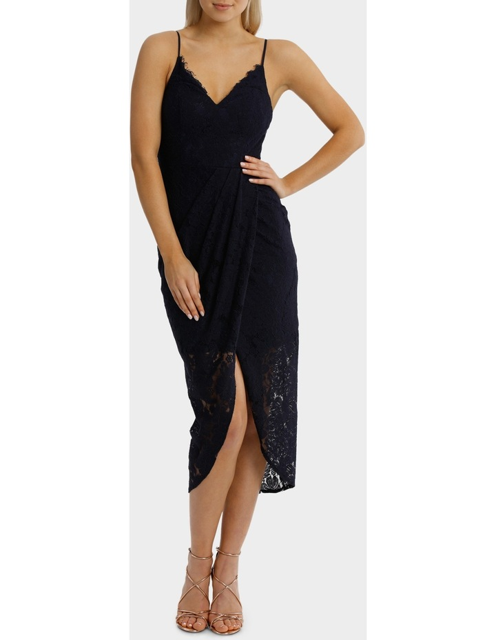 Midnight Corded Lace Wrap Dress image 1