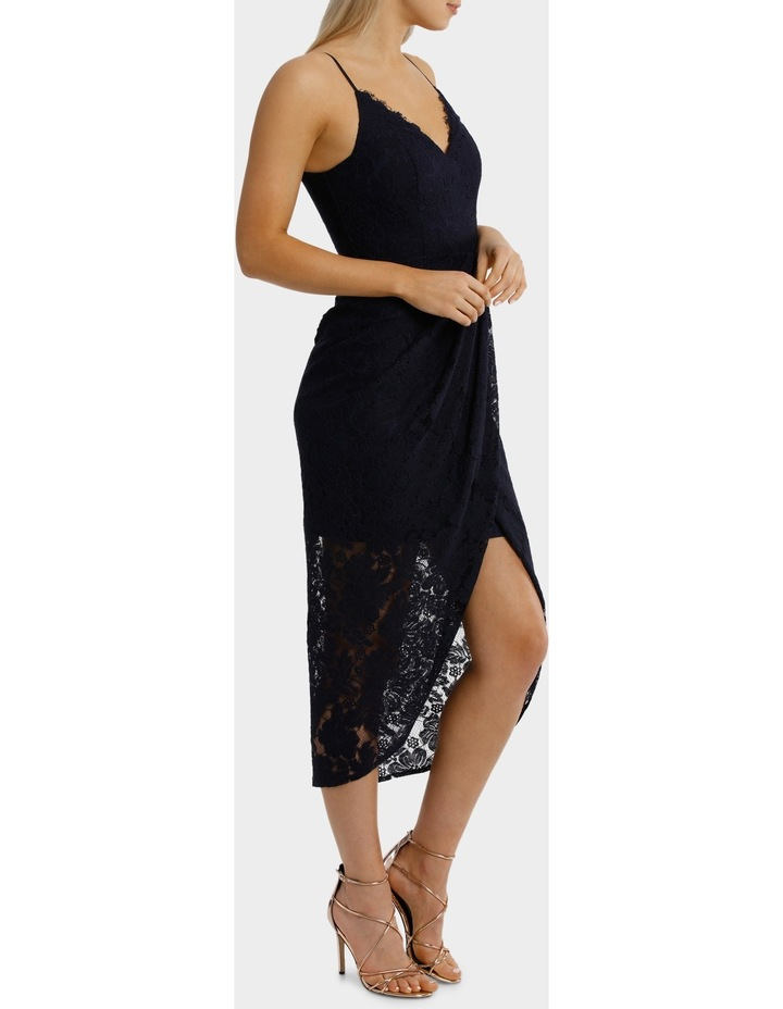 Midnight Corded Lace Wrap Dress image 2