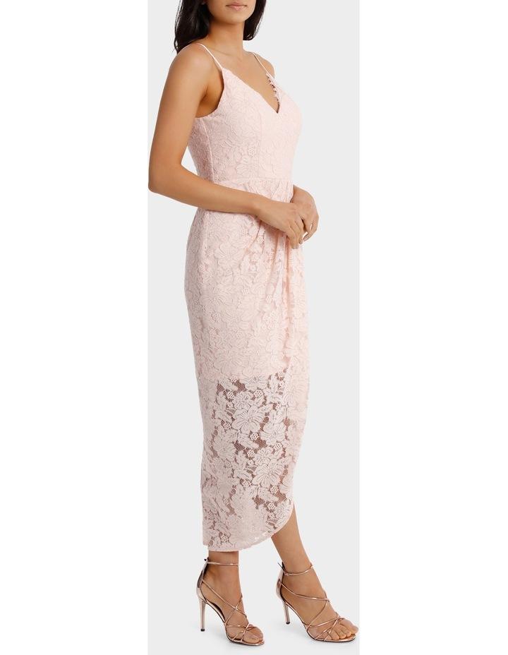 Lt Pink Corded Lace Wrap Dress image 2
