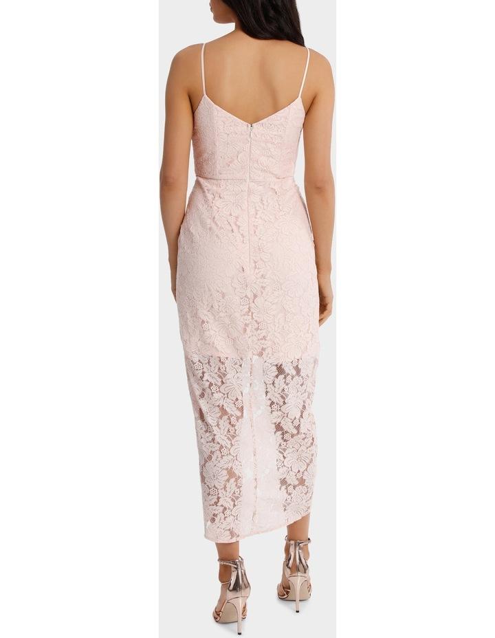 Lt Pink Corded Lace Wrap Dress image 3