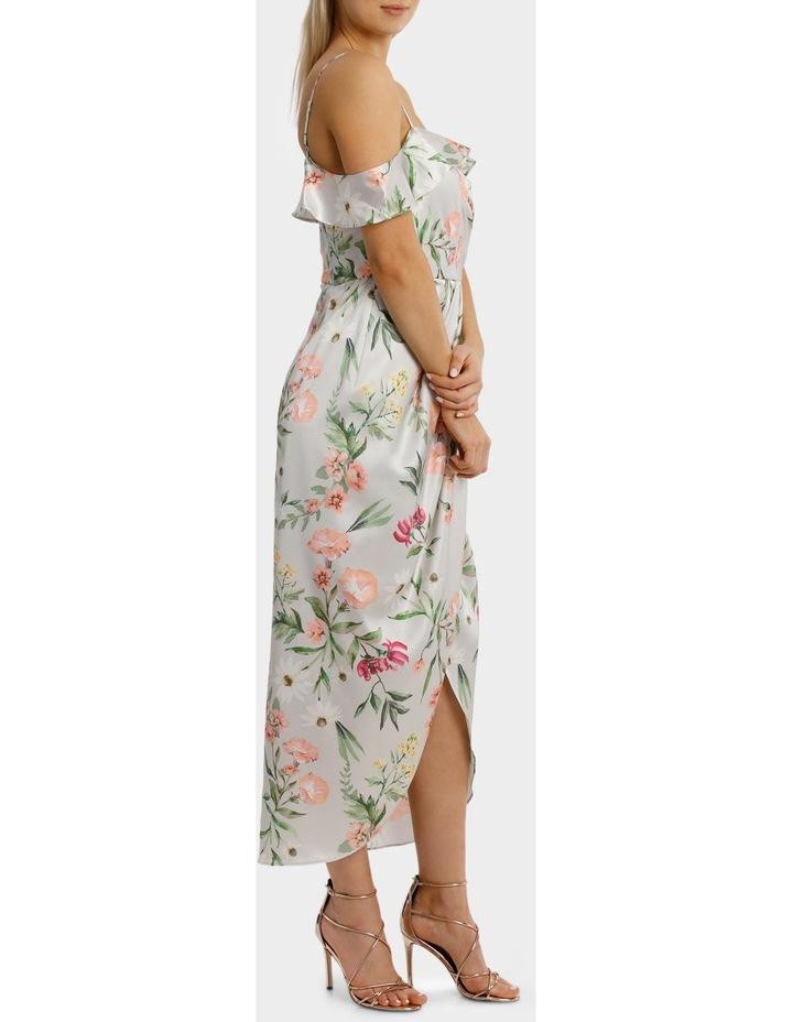 Lilac Petal Print Flutter Off The Shoulder Dress image 2
