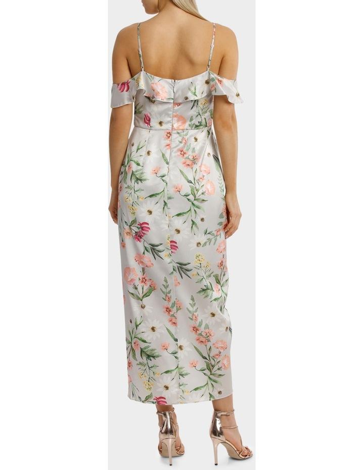 Lilac Petal Print Flutter Off The Shoulder Dress image 3