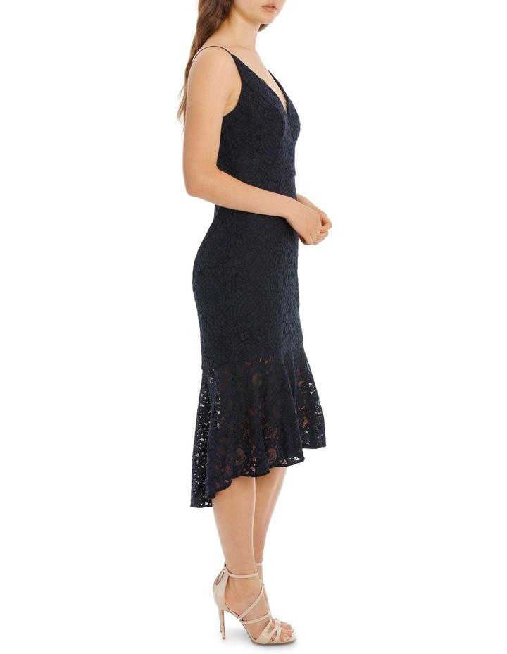 Navy Flounce Hem Lace Dress image 2