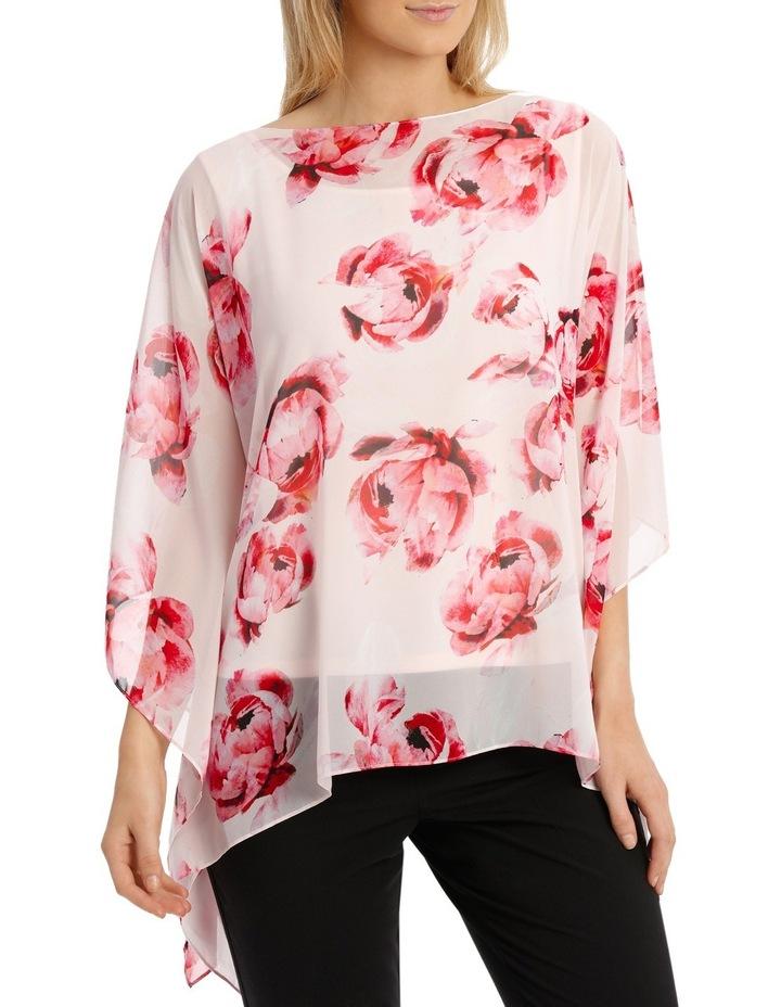 Pink Primrose Sheer Overlay Blouse image 1