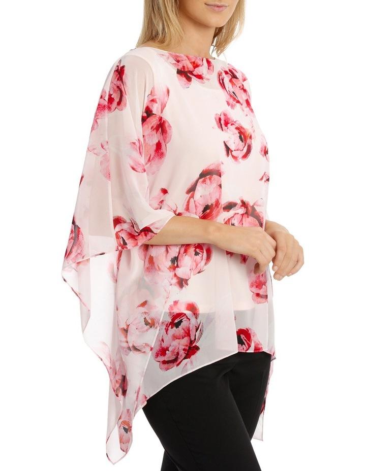 Pink Primrose Sheer Overlay Blouse image 2