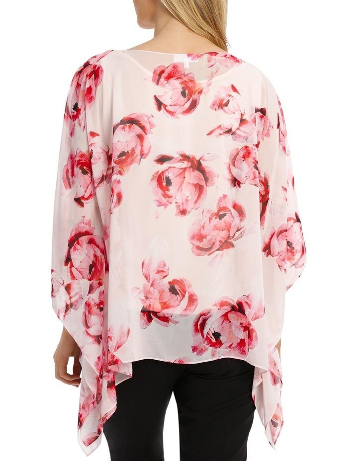 Pink Primrose Sheer Overlay Blouse image 3