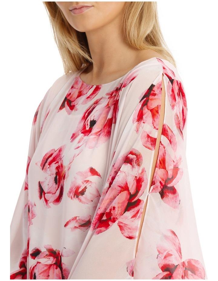 Pink Primrose Sheer Overlay Blouse image 4