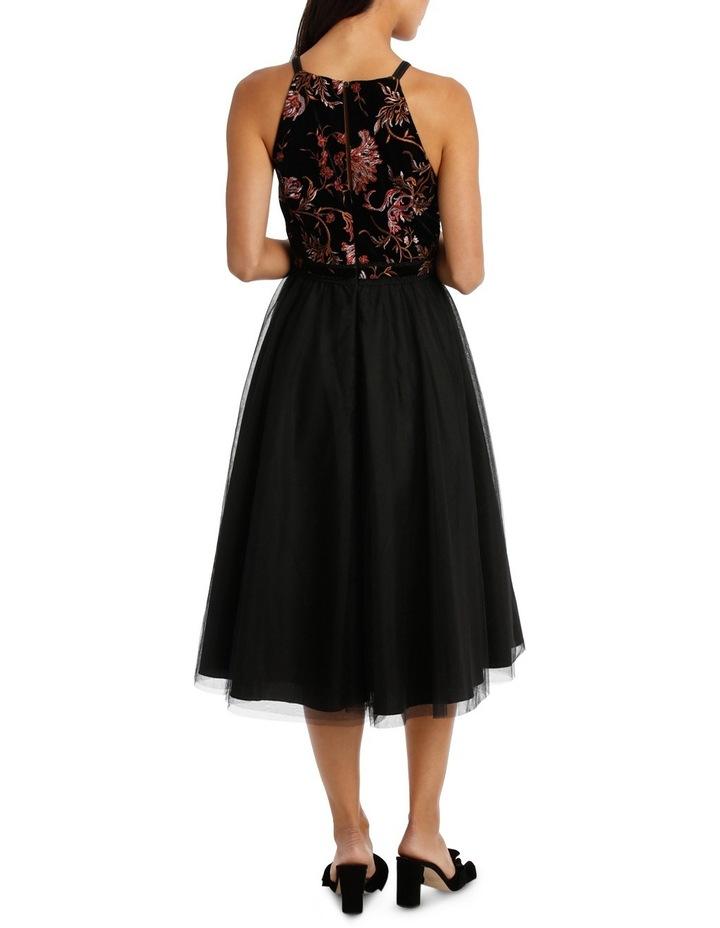 Velvet Embroided Bodice Dress image 3