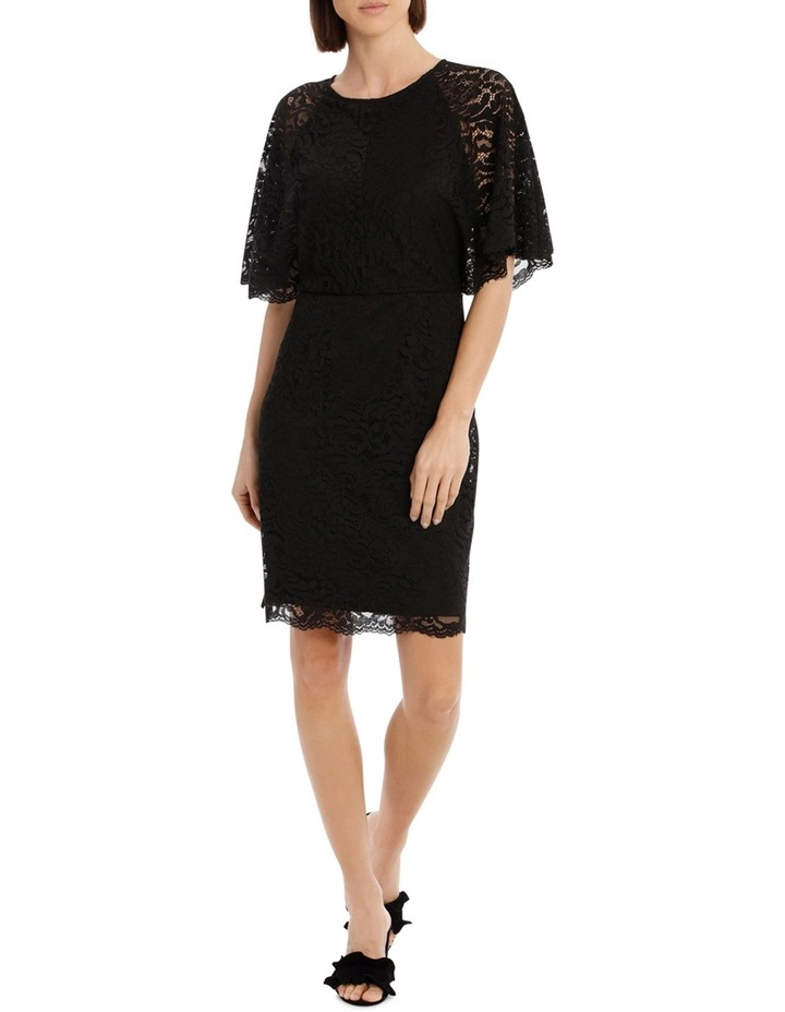 Black Batwing Lace Dress image 1