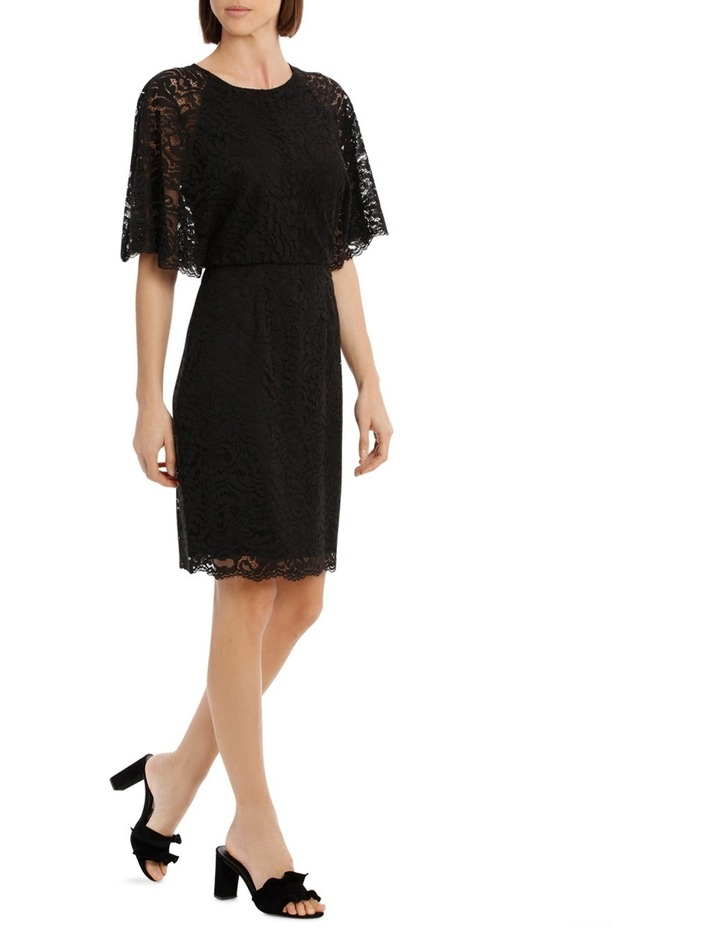 Black Batwing Lace Dress image 2