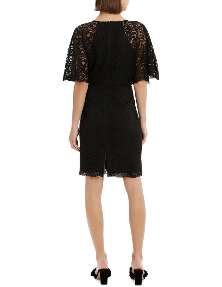 Black Batwing Lace Dress image 3