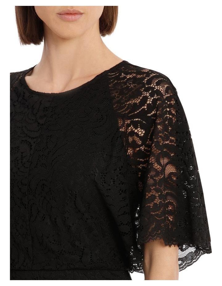 Black Batwing Lace Dress image 4
