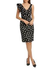 Black Fancy Spot Dress