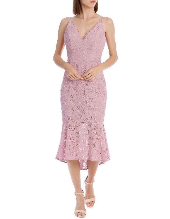 Peony Spaghetti Strap Fitted Lace Dress image 1