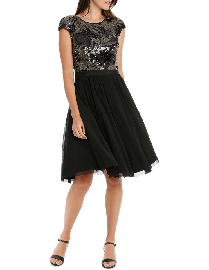 Leaf Sequin Bodice Fit And Flare Dress image 1