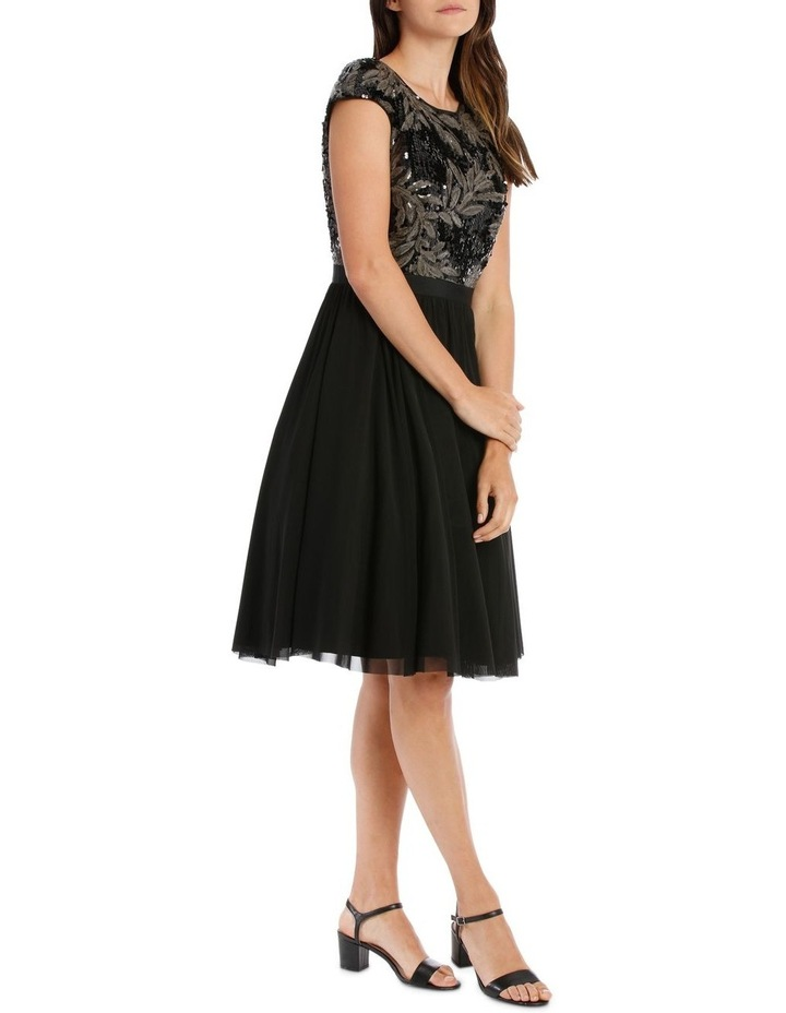 Leaf Sequin Bodice Fit And Flare Dress image 2