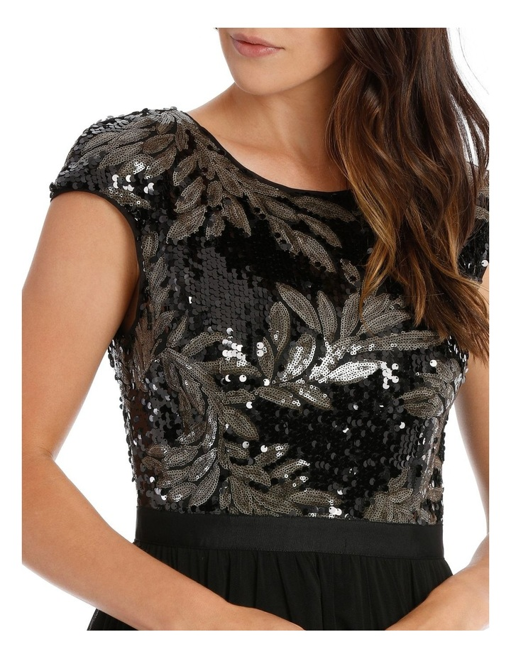 Leaf Sequin Bodice Fit And Flare Dress image 4
