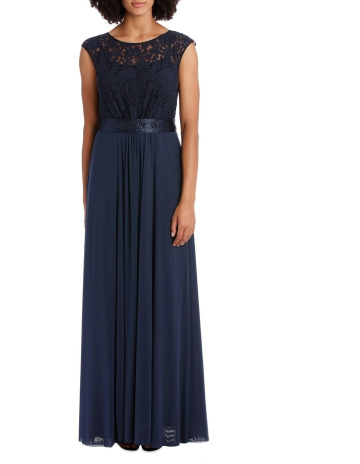 Midnight Mesh Gown With Sequin Trim image 1