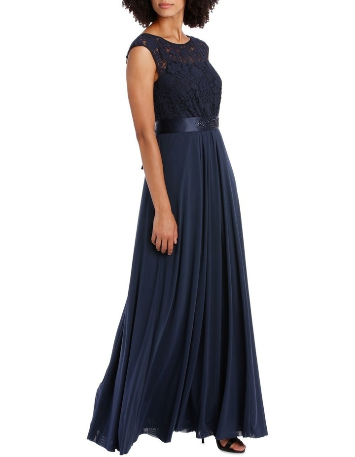 Midnight Mesh Gown With Sequin Trim image 2