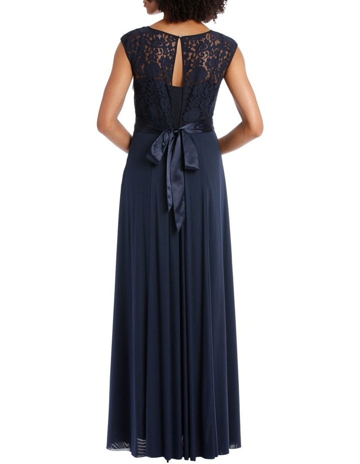Midnight Mesh Gown With Sequin Trim image 3