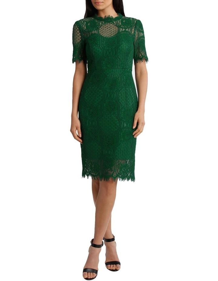 Green Circle Lace Dress image 1