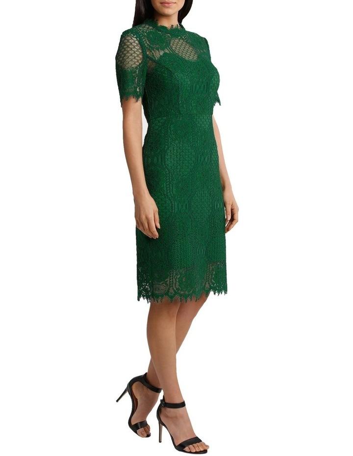 Green Circle Lace Dress image 2