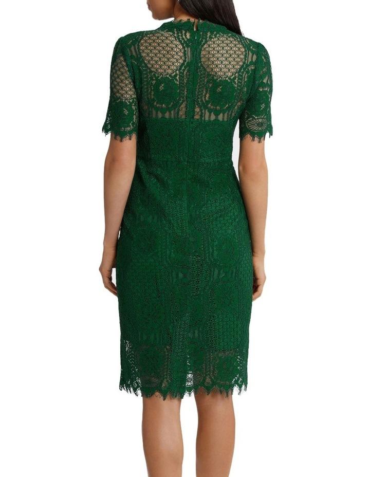 Green Circle Lace Dress image 3