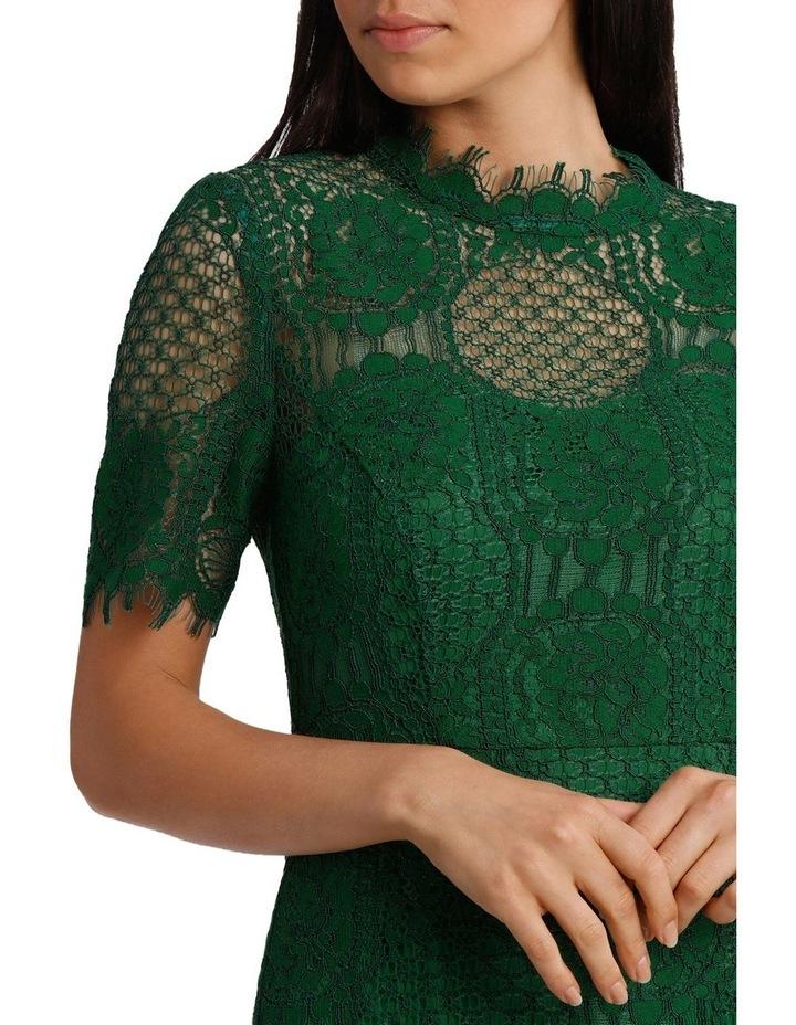 Green Circle Lace Dress image 4