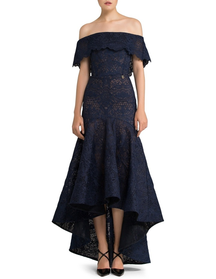 Off-Shoulder Lace Fitted Dress image 1