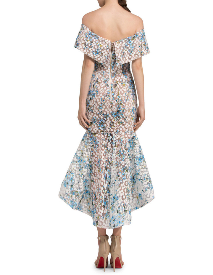 Off-Shoulder Lace Fitted Dress image 2