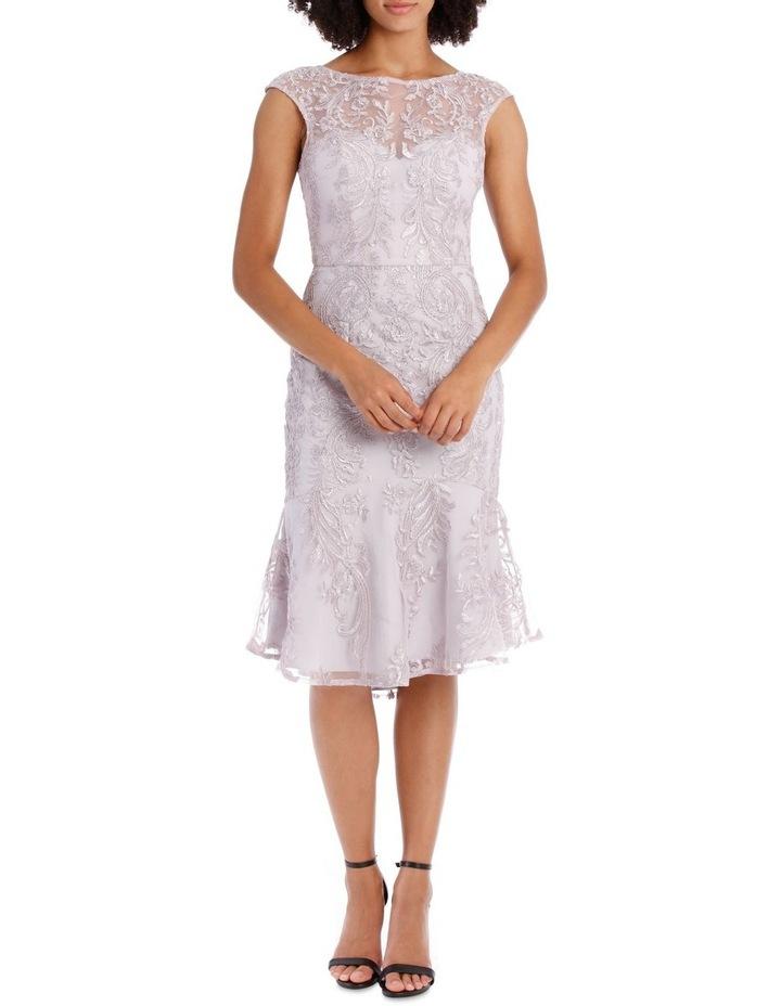 SELENA CAP SLEEVE TRUMPET DRESS image 1