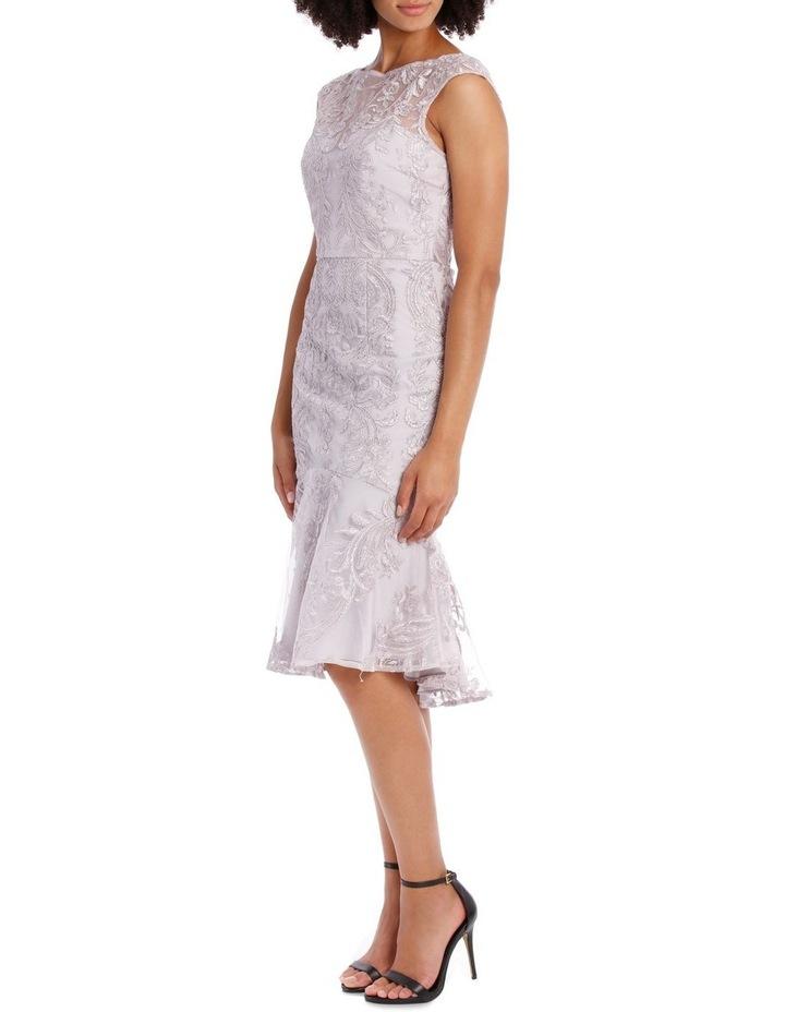 SELENA CAP SLEEVE TRUMPET DRESS image 2