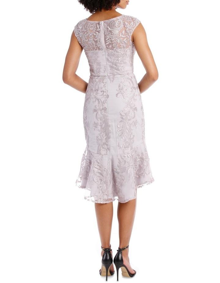 SELENA CAP SLEEVE TRUMPET DRESS image 3