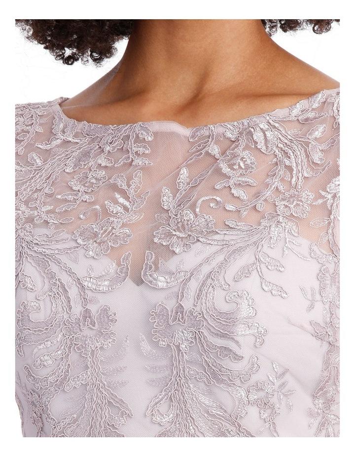 SELENA CAP SLEEVE TRUMPET DRESS image 4