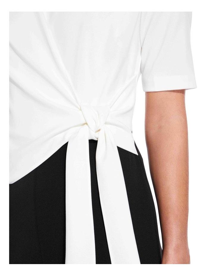 Colourblocked Knit Crepe Jumpsuit image 4