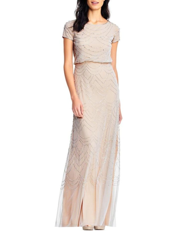 Short Sleeve Beaded Maxi Dress image 1