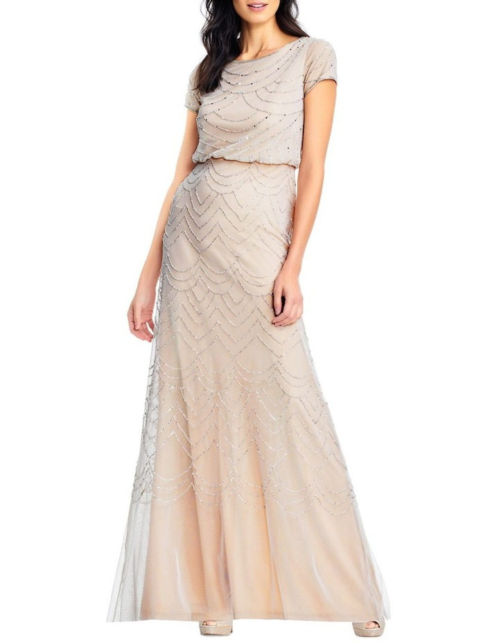 Short Sleeve Beaded Maxi Dress image 3